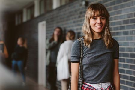 Female student in university campus
