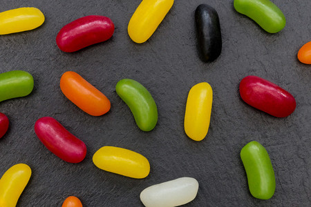 Jelly beans candy sweets abstract food background