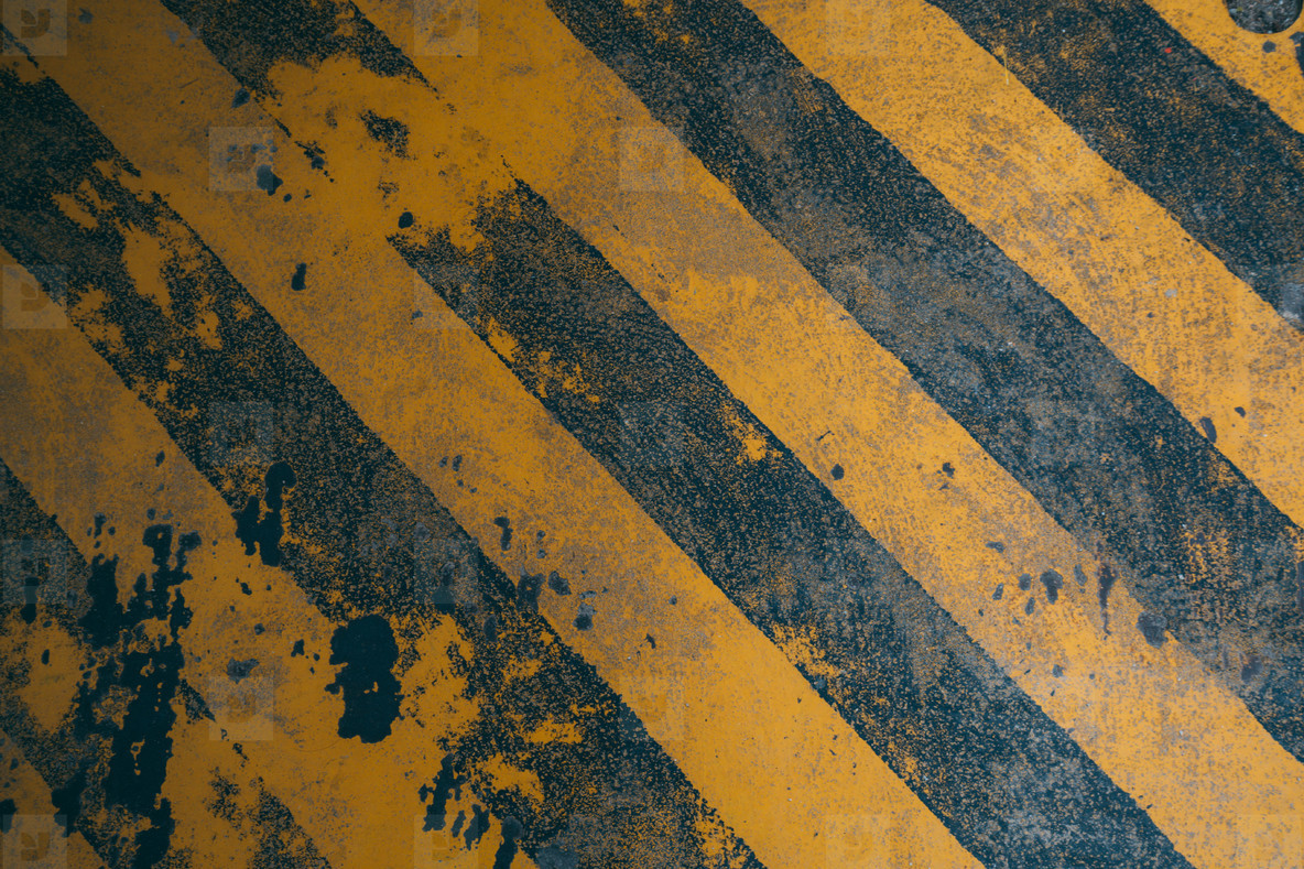 Yellow diagonal warning lines background for construction danger