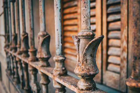 Rusty iron bars