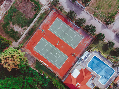 Tennis Courts from Above