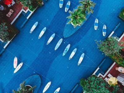Poolside Aerial