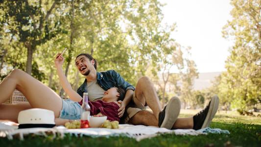Selfie on picnic