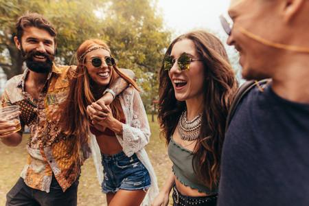 People enjoying the summer music festival