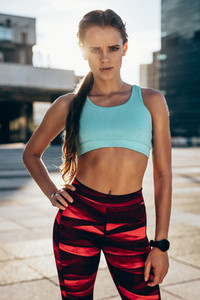 Fit young woman in sportswear