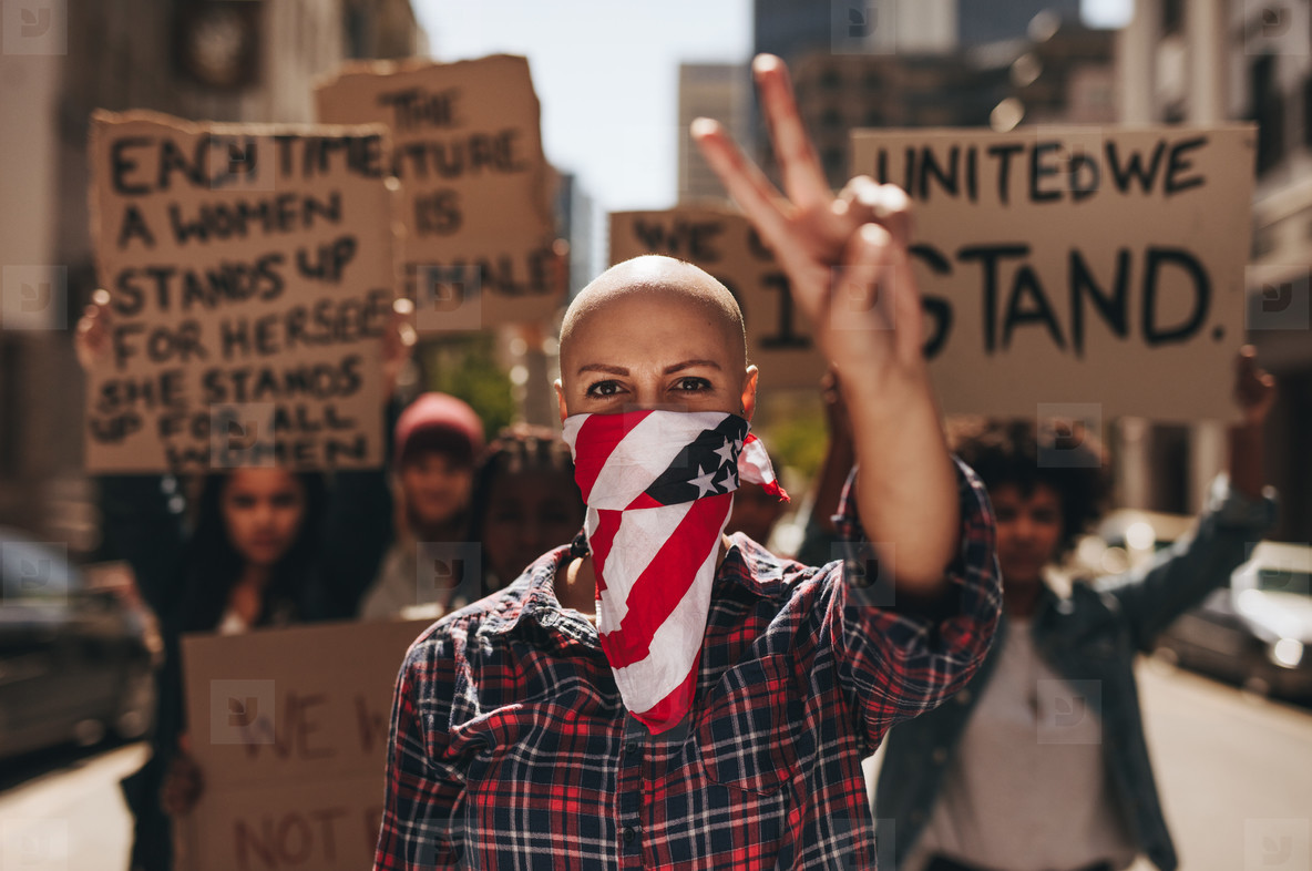 Protesting with peace and silence