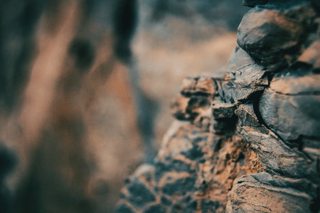 Close up of textures and abstract shapes of stones