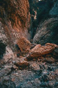 Landscape of huge stones and different shapes