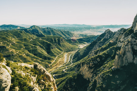Landscape with views from the Montserrat mountain