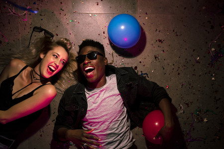 Couple at a house party