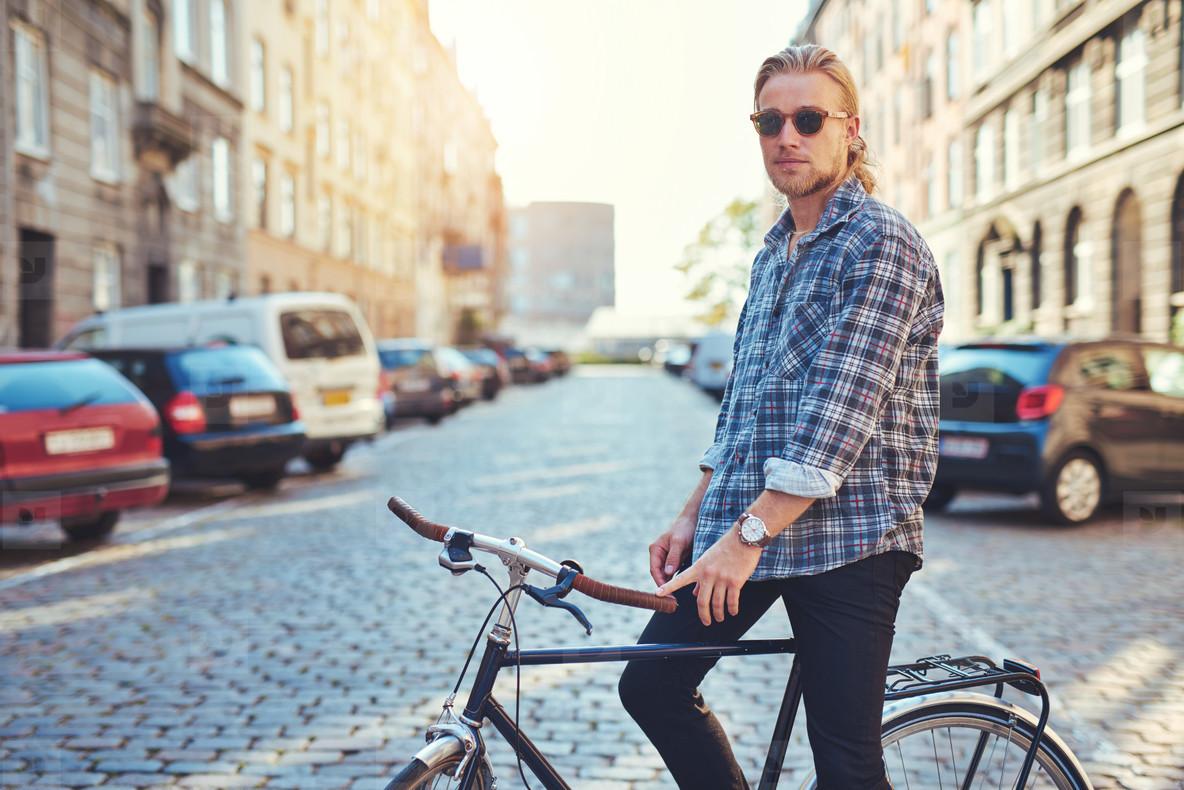 City lifestyle  portrait of man