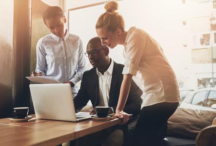 Group of entrepreneurs working