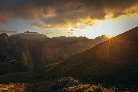 Jonkershoek nature reserve sunset