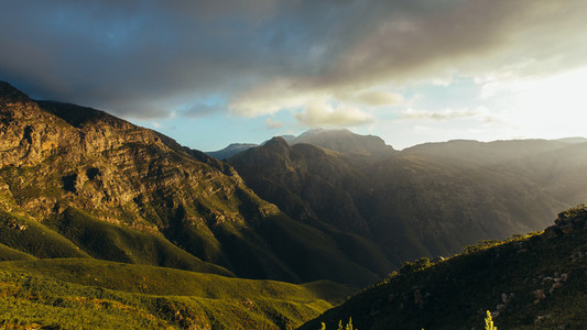 Beautiful view of Jonkershoek nature reserve