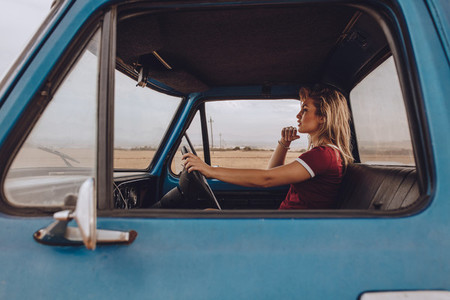 Woman going alone on a road trip