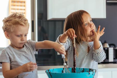 kids baking in the kitchen