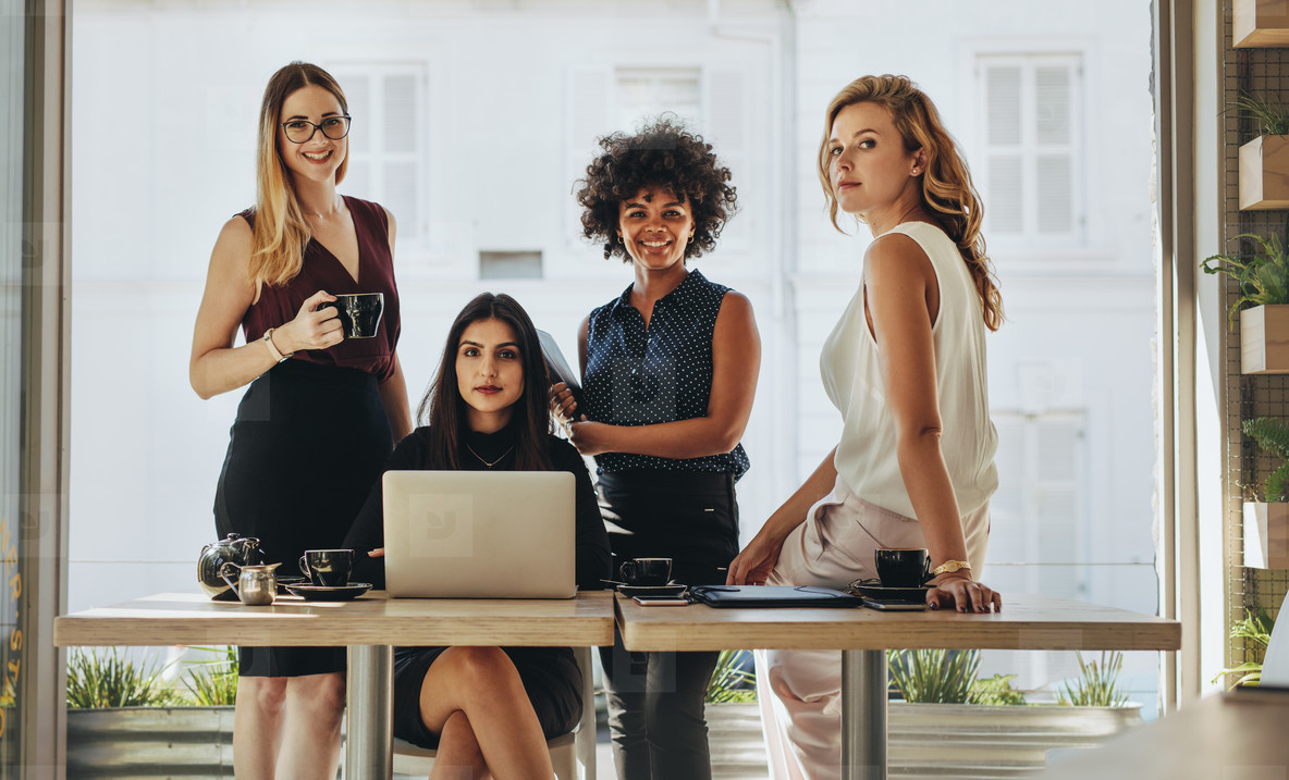 Portrait of multi ethnic businesswomen together
