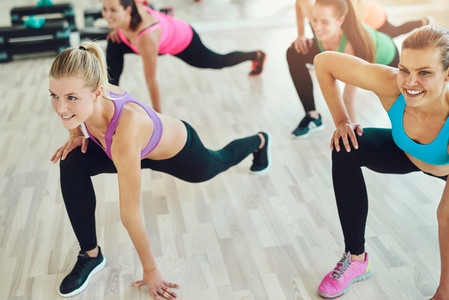 Group of women in a fitness class