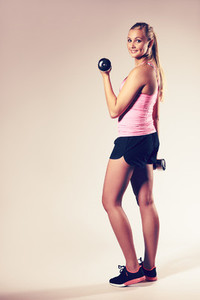 Young woman wearing workout