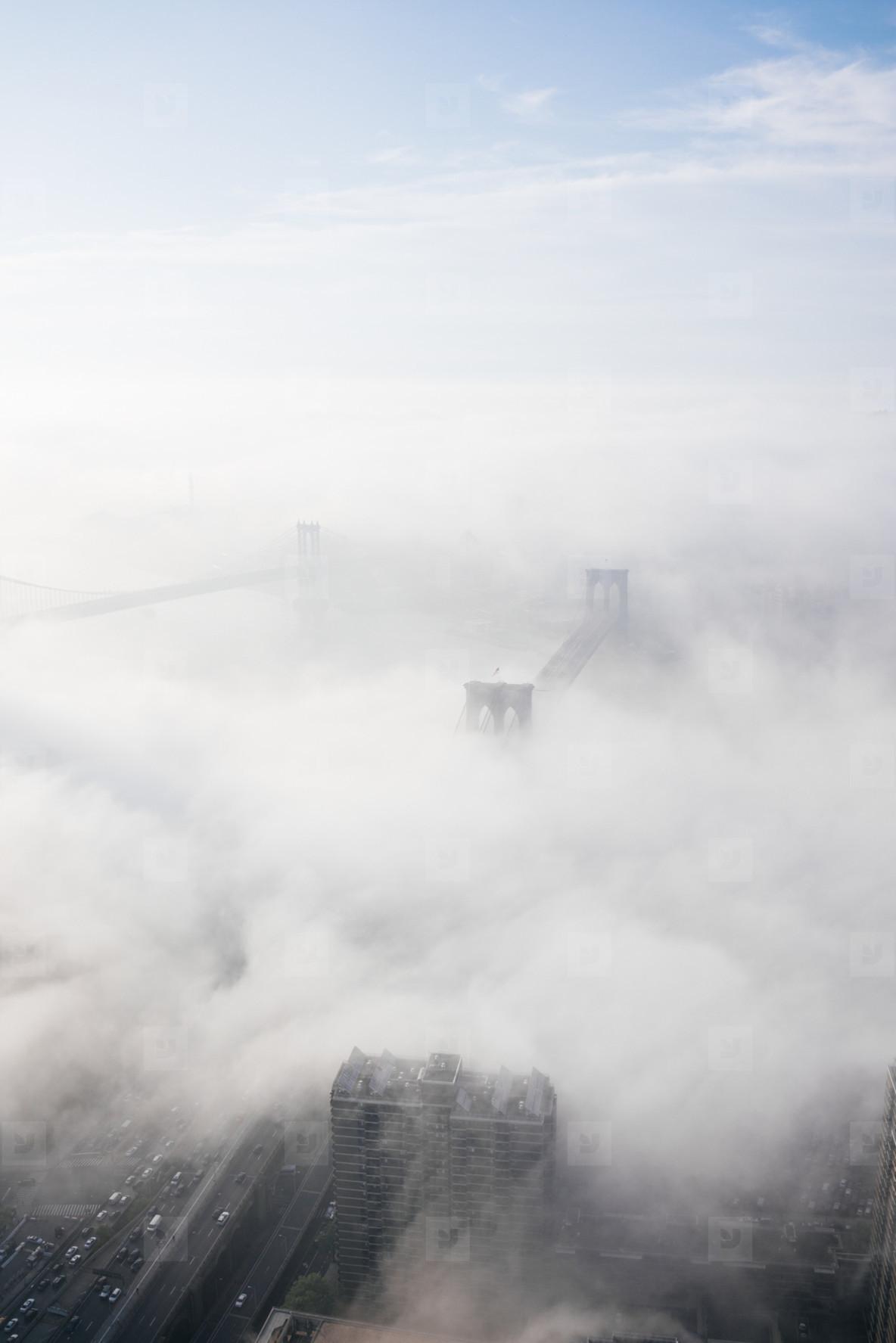Clouds over Brooklyn Bridge