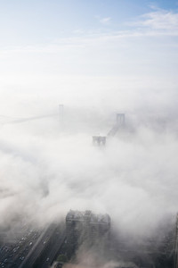 Clouds over Brooklyn Bridge
