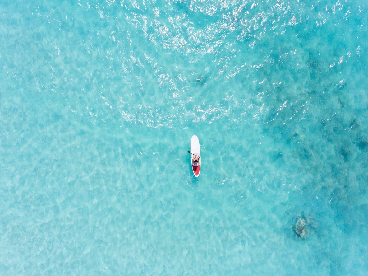Paddle boarding in Bahamas