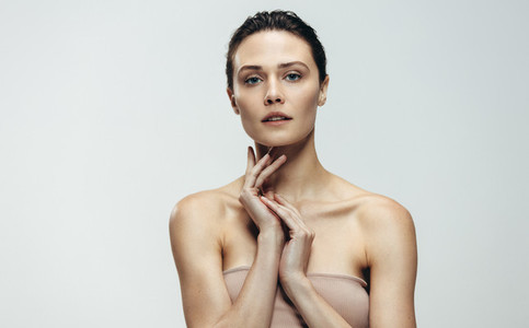 Beautiful female model with perfect skin
