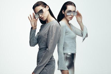 Women in stylish futuristic look