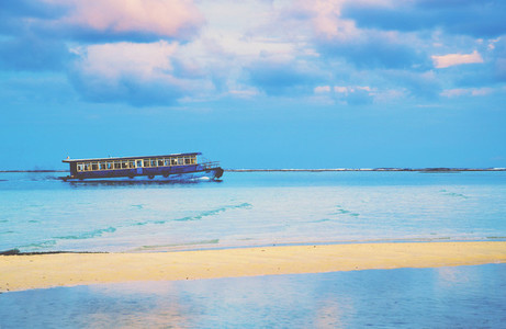 Old public ferry in Maldives
