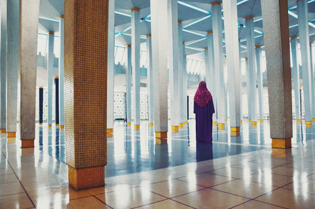 Muslim woman inside mosque