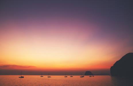 Beautiful and serene sunset