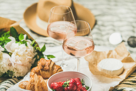 French style summer picnic setting and outdoor gathering concept