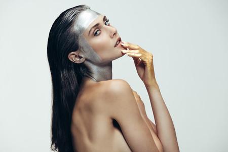 Avant garde look makeup