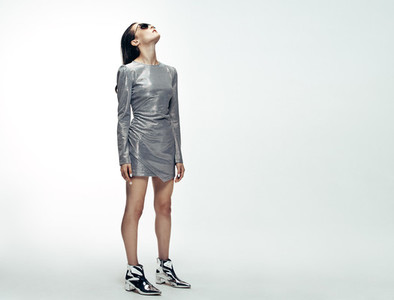 Woman in futuristic style