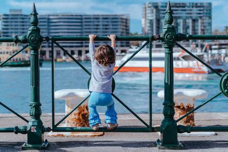 Child at Sydney Harbor