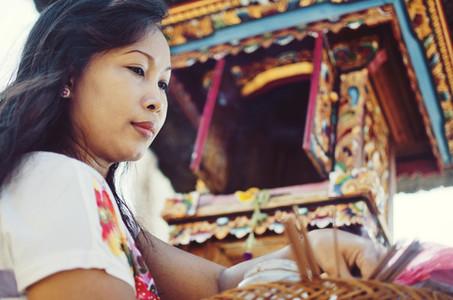 Beautiful Hindu woman