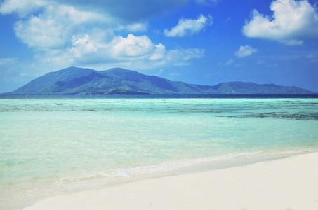 Perfect tropical paradise beach