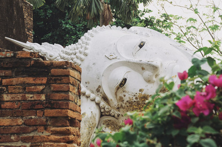 Carved stone Buddha statue