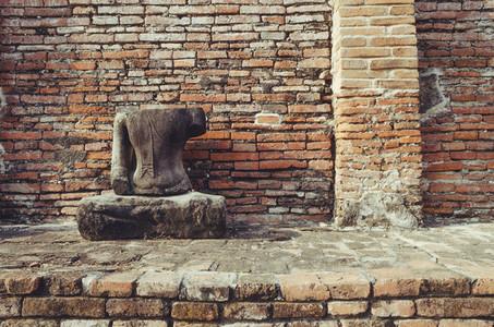 Carved stone Buddha statue