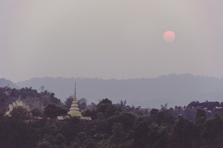 Misty Thailand morning