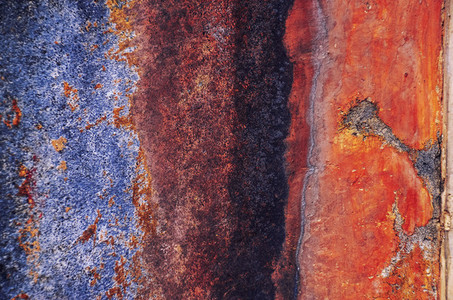 Colorful old metal texture