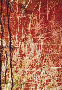 Old scratched red wall texture