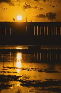 Causeway at sunset