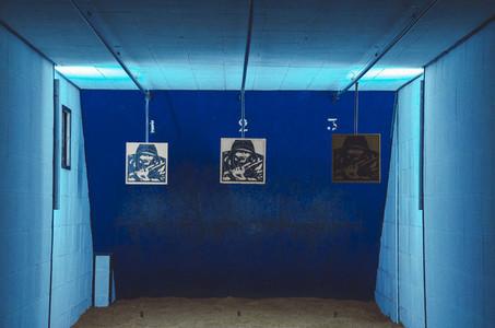 Shooting range room