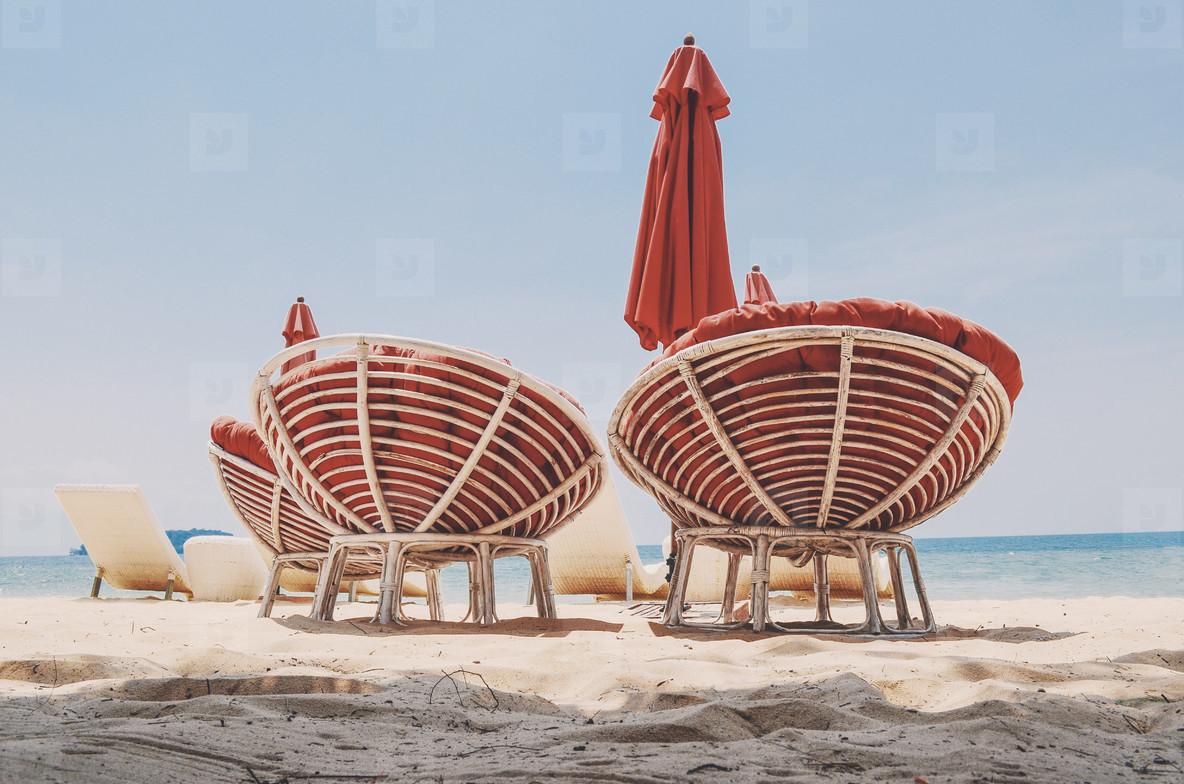 Comfy beach chairs
