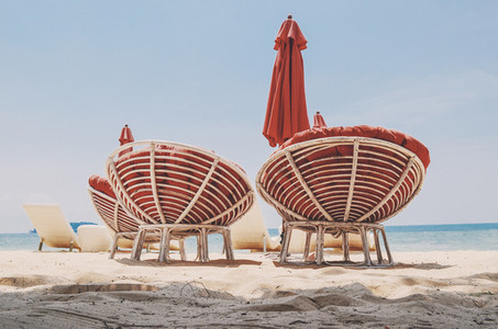 Comfy beach chairs