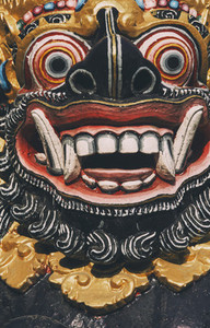 Colorful Carved Balinese Deity