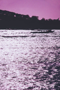 Purple sunset seascape