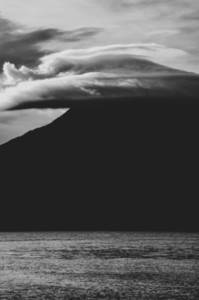 Volcano black and white