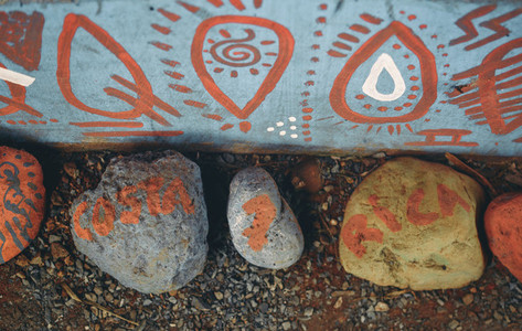 Colorfully Painted Garden Stones